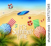 it's summer time. view of stuff ... | Shutterstock .eps vector #1067717345