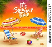 summer holidays background.... | Shutterstock .eps vector #1067717357