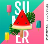 summer  layout design  greeting ... | Shutterstock .eps vector #1067719181