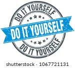 do it yourself round grunge... | Shutterstock .eps vector #1067721131