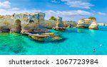 stacks of torre sant andrea ... | Shutterstock . vector #1067723984