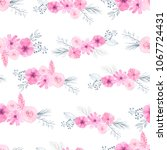 seamless pattern with hand... | Shutterstock . vector #1067724431
