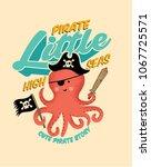 pirate octopus. cartton octopus.... | Shutterstock .eps vector #1067725571