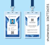 blue employee id card template | Shutterstock .eps vector #1067726351