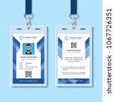 Blue Employee Id Card Template