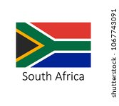 flag of south africa with name...   Shutterstock . vector #1067743091