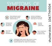 migraine infographic. headache. ... | Shutterstock .eps vector #1067744504