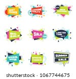 set of colorful abstract chat... | Shutterstock .eps vector #1067744675