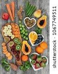 fresh high fiber health food... | Shutterstock . vector #1067749511