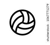 volleyball icon vector | Shutterstock .eps vector #1067771279