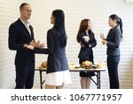 business party with teamwork.... | Shutterstock . vector #1067771957