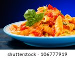 pasta with tomato sauce and... | Shutterstock . vector #106777919