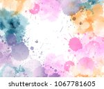 banner with colorful watercolor ... | Shutterstock .eps vector #1067781605