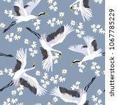 crane  pattern  illustration... | Shutterstock . vector #1067785229