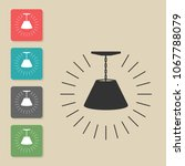 lamp   vector icon. symbol for...