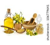 Mustard Oil  Jar And Mustard...