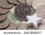 a quarter of wyoming  quarters...   Shutterstock . vector #1067800037