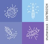space logo outline style icons. ... | Shutterstock .eps vector #1067802524