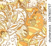 tracery seamless pattern.... | Shutterstock .eps vector #1067803757