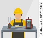 worker icon. flat illustration...   Shutterstock .eps vector #1067811395