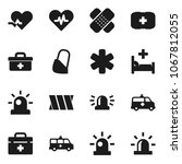 flat vector icon set   first... | Shutterstock .eps vector #1067812055