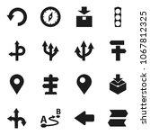 flat vector icon set   compass... | Shutterstock .eps vector #1067812325