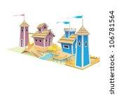 children's houses. the site for ... | Shutterstock .eps vector #106781564