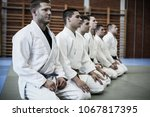 group of young men at sports... | Shutterstock . vector #1067817395