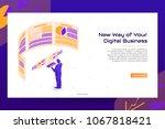 isometric digital business... | Shutterstock .eps vector #1067818421