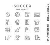 set line icons of soccer | Shutterstock .eps vector #1067830679