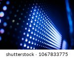 blue toned led wall close up | Shutterstock . vector #1067833775