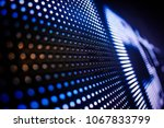 blue toned led wall close up | Shutterstock . vector #1067833799