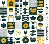 folk art pattern in...   Shutterstock .eps vector #1067837375