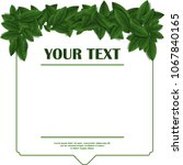 spring card template with green ... | Shutterstock . vector #1067840165