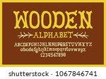 hand drawn alphabet. modern... | Shutterstock .eps vector #1067846741