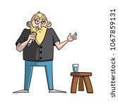 cartoon stand up comedian... | Shutterstock .eps vector #1067859131