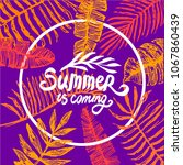 summer time quote lettering...   Shutterstock .eps vector #1067860439
