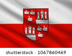flag of zwickau is a town in... | Shutterstock . vector #1067860469