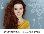 pretty actress. cheerful... | Shutterstock . vector #1067861981