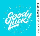 good luck. farewell card.... | Shutterstock .eps vector #1067865794