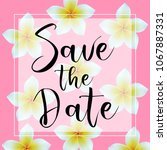 save the date. invitation with... | Shutterstock .eps vector #1067887331