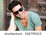 close up of attractive man...   Shutterstock . vector #106790315