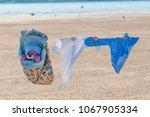 on a sunny summer day  children'... | Shutterstock . vector #1067905334