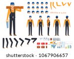 worker  builder in black...   Shutterstock .eps vector #1067906657
