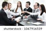 successful businesswomen are... | Shutterstock . vector #1067916539