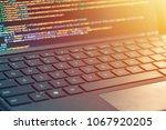 closeup coding  programming on... | Shutterstock . vector #1067920205