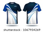 soccer jersey template.blue and ...   Shutterstock .eps vector #1067934269