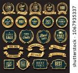 luxury golden design badges and ... | Shutterstock .eps vector #1067935337