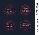 merry christmas greeting... | Shutterstock . vector #1067936084