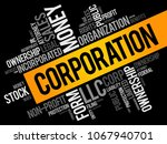 corporation word cloud collage  ... | Shutterstock .eps vector #1067940701